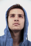 Handsome male model. Portrait of a casual good looking male model looking up Royalty Free Stock Images