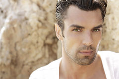 Handsome male model Royalty Free Stock Photography