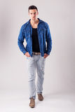 Handsome male model - autumn-winter collection Royalty Free Stock Photos