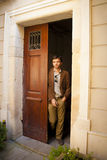 Handsome male model in a doorway Stock Image