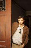 Handsome male model in a doorway Stock Photo