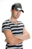 Handsome male model posing stock image