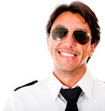 Handsome male pilot Stock Photo