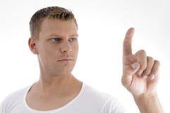 handsome male pointing young Στοκ φωτογραφία με δικαίωμα ελεύθερης χρήσης