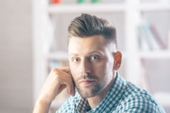 Handsome male portrait Royalty Free Stock Photos