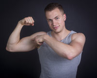 Handsome male posing Stock Image