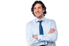 Handsome male professional looking upwards Royalty Free Stock Images