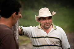 Handsome male ranch hands in Costa Rica Stock Image