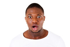 Handsome male's face showing shock. Stock Image