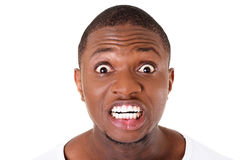 Handsome male's face showing shock. Stock Images