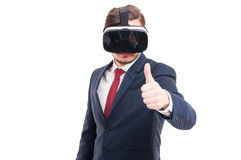 Handsome male showing thumb up Stock Photography