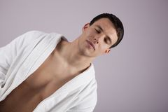 Handsome Male in the Spa Royalty Free Stock Photos
