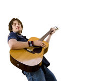 Handsome male using guitar Stock Image