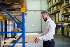 Male warehouse worker or supervisor. Handsome male warehouse worker or a supervisor Stock Image