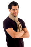 Handsome Male With Folded Hands Stock Photo