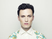 Handsome man. Fashion portrait of a handsome young man with make-up Stock Photo