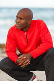 Handsome man. Handsome young man with sportswear enjoying South Beach in Miami Royalty Free Stock Photos