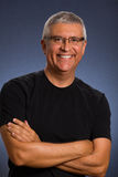 Handsome man. Handsome middle age man in a studio portrait Stock Images