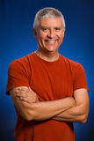 Handsome man. Handsome middle age man in a studio portrait Stock Photo