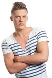 Handsome Man with Arms Crossed Royalty Free Stock Photo