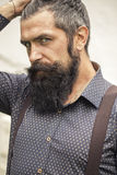 Handsome man with beard Royalty Free Stock Photography