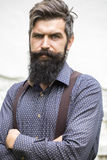 Handsome man with beard Stock Photo