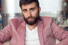 Handsome man with beard . Royalty Free Stock Photo