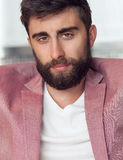 Handsome man with beard . Royalty Free Stock Images