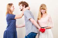 Handsome man betrayed women Royalty Free Stock Photo