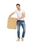 Handsome man with big box Stock Image