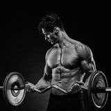 Handsome man with big muscles Royalty Free Stock Photos