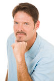Handsome Man with Blue Eyes Stock Image