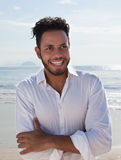 Handsome man brazilian at Copacabana beach Stock Photography