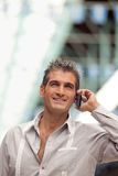 Handsome Man on Call Stock Photos