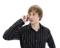 Handsome man calling by mobile. Stock Photo