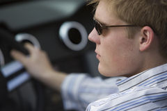 Handsome Man In Car Stock Image