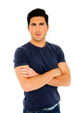 Handsome man in casual cloth with arms folded Royalty Free Stock Photos