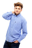 Handsome man in casual cloth Stock Image