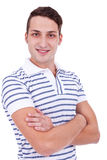 Handsome man casually posing Royalty Free Stock Photography
