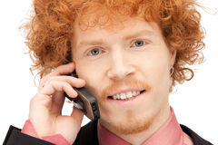 Handsome man with cell phone Stock Photo