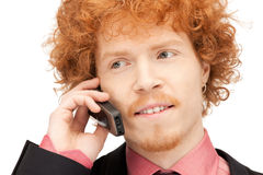 Handsome man with cell phone Royalty Free Stock Photos