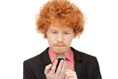 Handsome man with cell phone Stock Photography