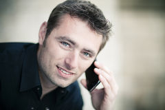 Handsome man with cellphone Royalty Free Stock Image