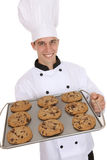 Handsome Man Chef with Cookies Royalty Free Stock Photos