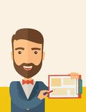 Handsome man with clipboard Stock Photography