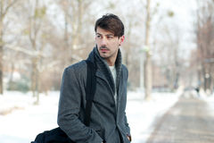 Handsome man in coat Royalty Free Stock Image