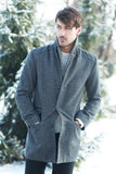 Handsome man in coat Royalty Free Stock Images