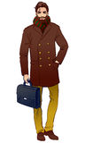 Handsome  man in a coat Royalty Free Stock Images