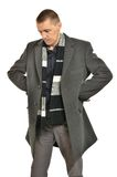Handsome Man in coat Royalty Free Stock Photography