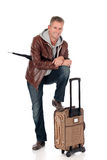 Handsome man, commuter Royalty Free Stock Photography